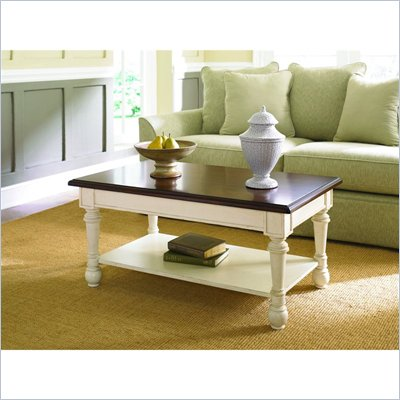 Hammary Promenade Rectangular Cocktail Table Fruitwood/Antique Linen