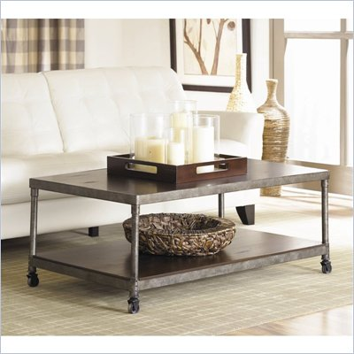 Hammary Structure Rectangular Cocktail Table in Distressed Brown
