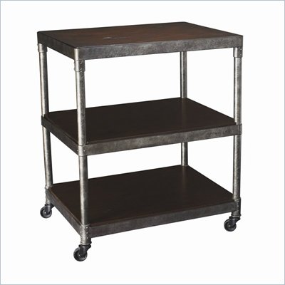 Hammary Structure Corner Table in Distressed Brown
