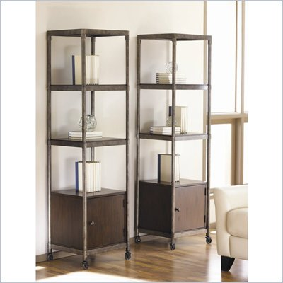 Hammary Structure Etagere/Audio Pier in Distressed Brown