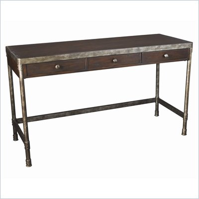 Hammary Structure Computer Desk in Distressed Brown