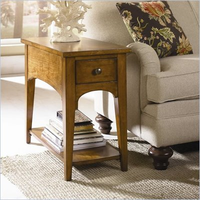 Hammary Summit Chairside Table in Caramel Finish
