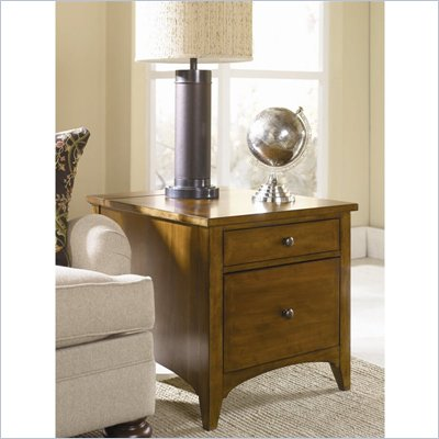 Hammary Summit Lap Top End Table in Caramel Finish