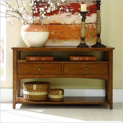 Hammary Summit Console Table in Caramel Finish