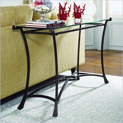 Hammary Sutton Sofa Table in Dark Burnished Finish