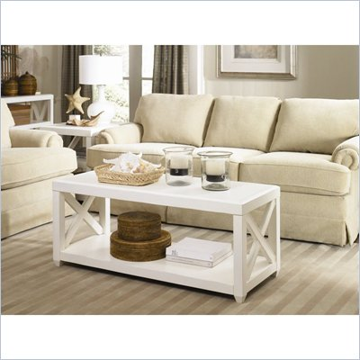 Hammary Transitions X Rectangular Cocktail Table in Weathered White