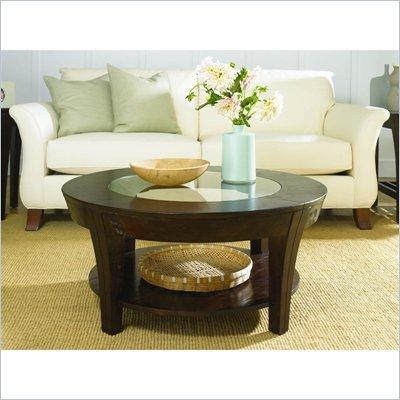 Hammary Urban Flair Round Cocktail Table in Umber