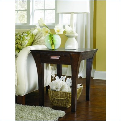 Hammary Urban Flair Rectangular Drawer End Table in Umber
