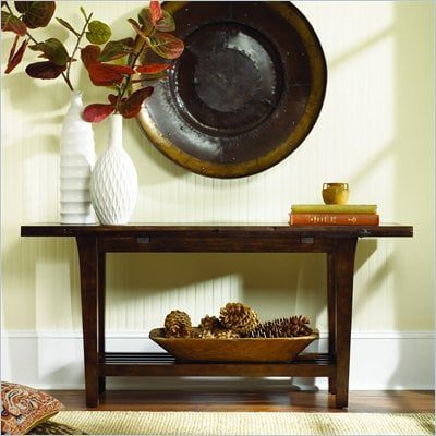 Hammary Urban Flair Flip Top Console in Umber