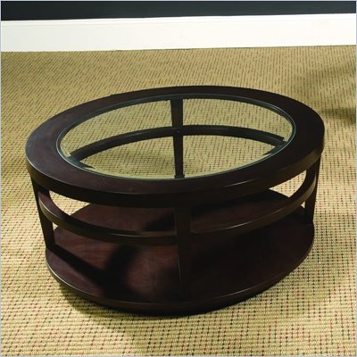 Hammary Urbana Round Cocktail Table in Merlot