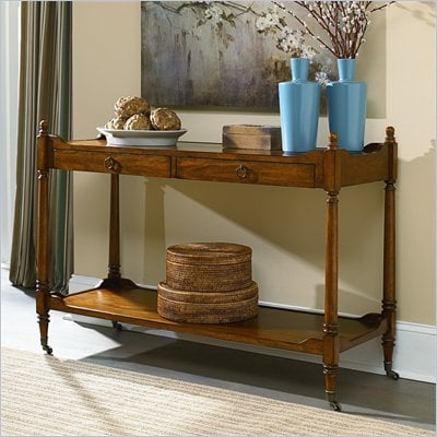 Hammary Wheaton Hall Console Table in Golden Brown