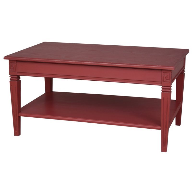Ashbury Coffee Table in Antique Red