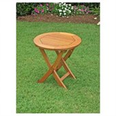 International Caravan Wood Round Folding Patio Table