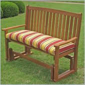 International Caravan Chatham Outdoor Wood Patio Double Glider