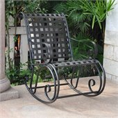 International Caravan Mandalay Iron Scroll Rocker
