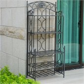 International Caravan Venice Iron 5-Tier Bakers Rack in Verti Gris