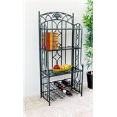 International Caravan Venice Iron 5-Tier Bakers Rack in Verdi Gris