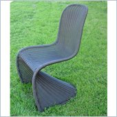 International Caravan Mary Wicker Patio Chair in Dark Chocolate