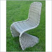 International Caravan Mary Wicker Contemporary Patio Chair in Sage