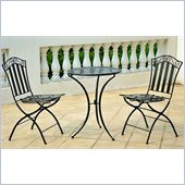 International Caravan Venice Three Piece Outdoor Cafe Bistro Set