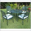 ADD TO YOUR SET: International Caravan 5 PC Diamond Lattice Outdoor Dining Set