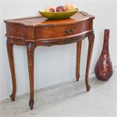 International Caravan Carved Wood 1-Drawer Wall Table
