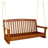 International Caravan Outdoor Balau 59 3 Seater Wood Swing