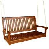 International Caravan Outdoor 48 Two Seater Wood Swing