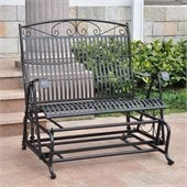 International Caravan Sonoma Outdoor Iron Patio Double Glider