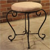 International Caravan Monaco Indoor Bathroom Vanity Stool in Java