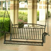 International Caravan Tropico 4 Foot Iron Porch Swing