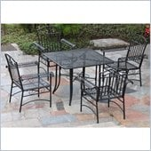 International Caravan Tropico 5 Piece Iron Patio Set