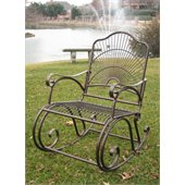 International Caravan Sun Ray Iron Patio Rocker