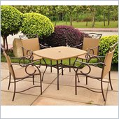 International Caravan Valencia Outdoor Wicker 5 Piece Patio Set