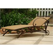 International Caravan Valencia Wicker Multi Position Chaise Lounge