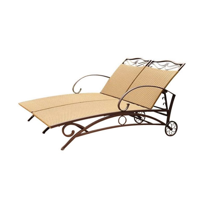 International caravan valencia wicker double chaise lounge for Best price chaise lounge