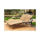 International Caravan Valencia Wicker Double Chaise Lounge
