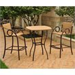 ADD TO YOUR SET: International Caravan Valencia 3 PC Wicker Bar Height Bistro Set