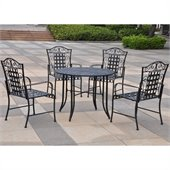 International Caravan Mandalay Iron Outdoor Patio Game Group