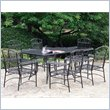 ADD TO YOUR SET: International Caravan Tropico 7 Piece Iron Patio Dining Set