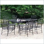 International Caravan Tropico 7 Piece Iron Patio Dining Set