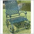 ADD TO YOUR SET: International Caravan Ferini Outdoor Diamond Lattice Patio Rocker