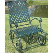 International Caravan Ferini Outdoor Diamond Lattice Patio Rocker