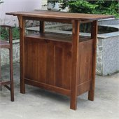 International Caravan Palermo Outdoor Adirondack Patio Bar Table