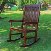 International Caravan Wooden Patio Rocker 