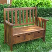 International Caravan 3 Drawer Outdoor/Indoor Bench