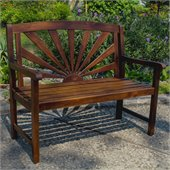 International Caravan Sapporo Outdoor 4' Patio Bench
