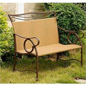 International Caravan Valencia Outdoor Wicker Resin Patio Loveseat