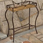 International Caravan Valencia Outdoor Wicker Resin Plant Stand