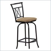 International Caravan Hamilton Bar Height Swivel Bar Stool (Set of 2)